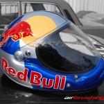 Kask Red Bull 1 airbrushing Daniel Baum