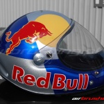 Kask Red Bull 2 airbrushing Daniel Baum